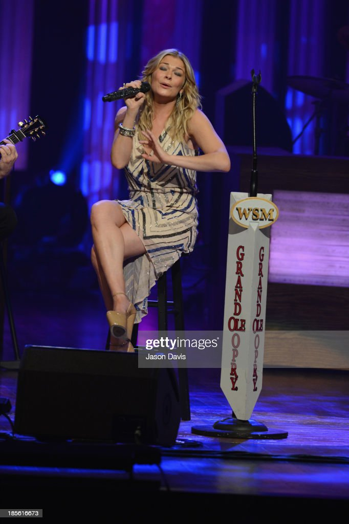 Singer LeAnn Rimes performs during the 5th annual Opry Goes Pink show at The Grand Ole Opry on October 22, 2013 in Nashville, Tennessee.