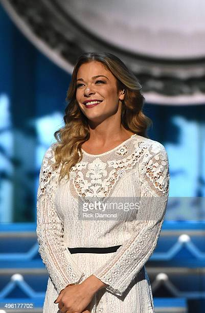 Singer LeAnn Rimes performs during the CMA 2015 Country Christmas on November 7 2015 in Nashville Tennessee