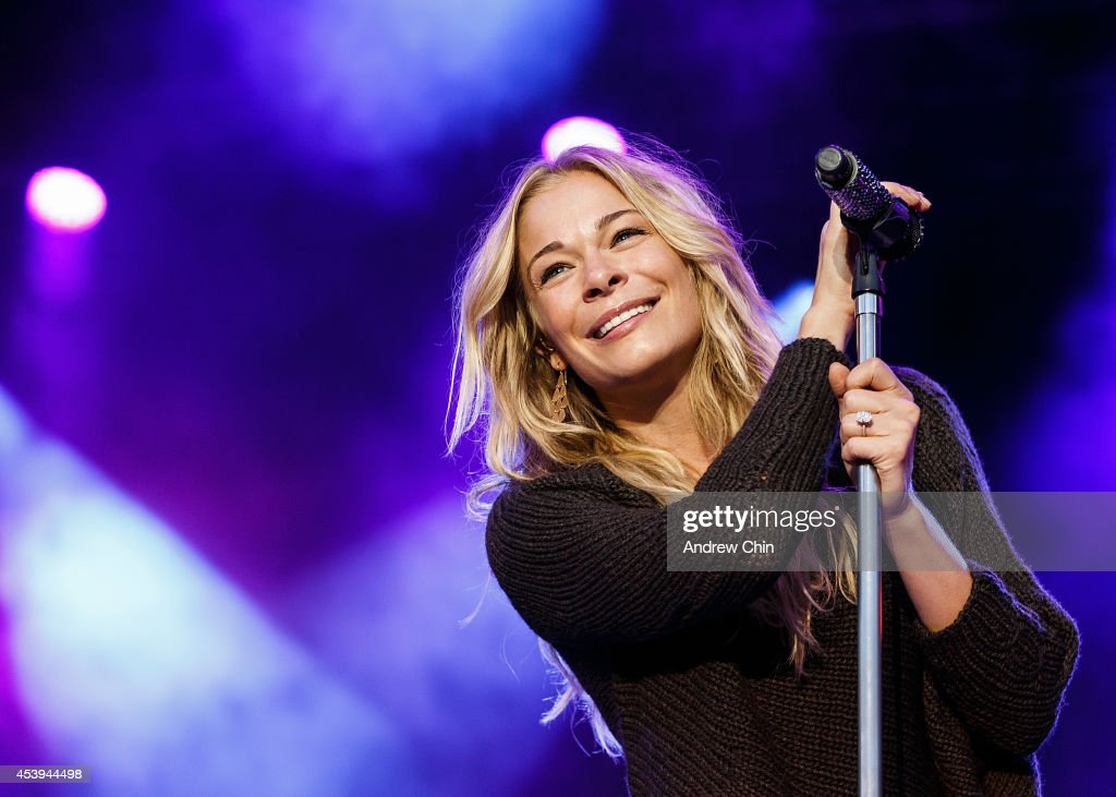 Singer LeAnn Rimes performs on stage at PNE Amphitheatre during Day 6 of The Fair At The PNE on August 21 2014 in Vancouver Canada