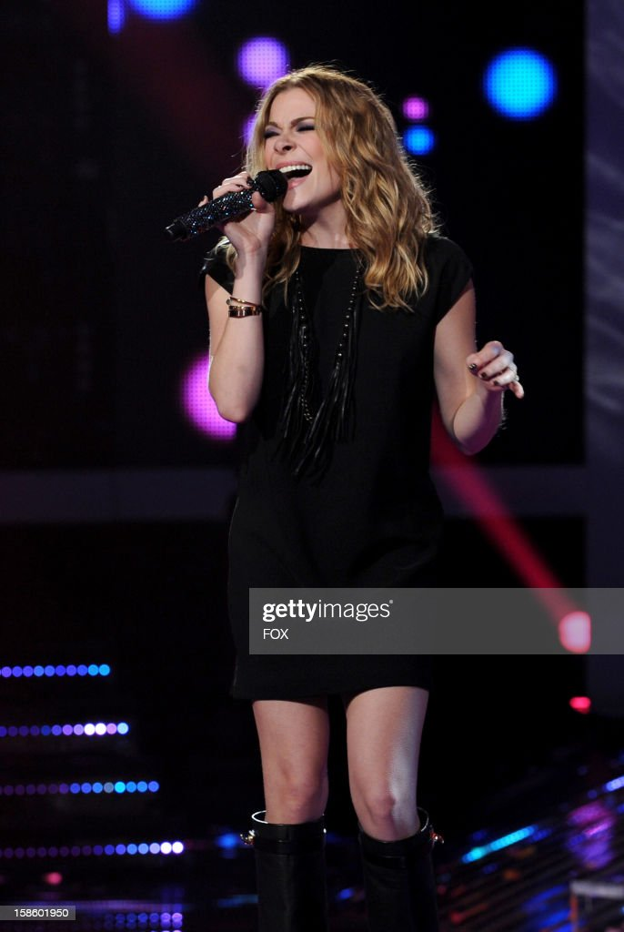 Singer Leann Rimes performs onstage at FOX's 'The X Factor' Season 2 Top 3 Live Performance Show on December 19, 2012 in Hollywood, California.