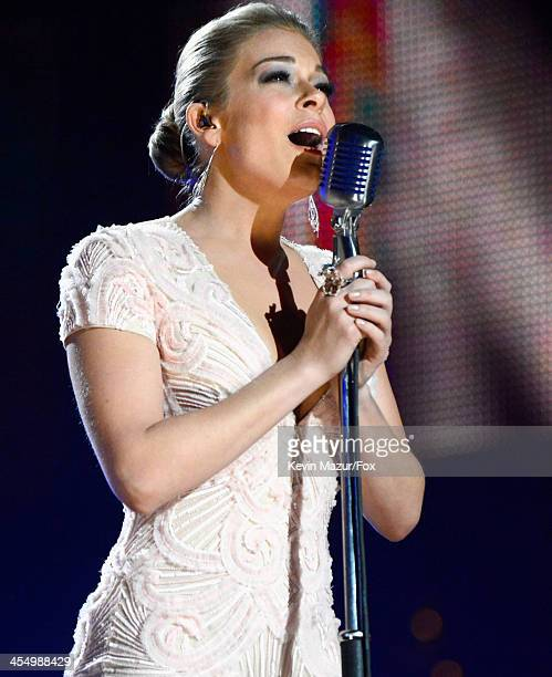 Singer LeAnn Rimes performs onstage during the American Country Awards 2013 at the Mandalay Bay Events Center on December 10 2013 in Las Vegas Nevada