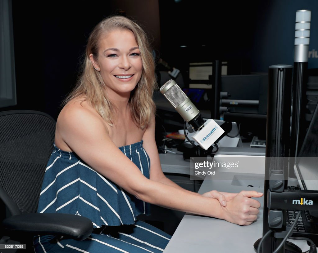 Singer LeAnn Rimes visits the SiriusXM Studios on August 17, 2017 in New York City.