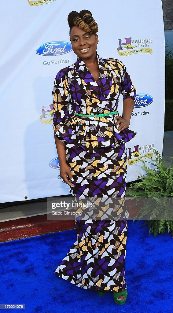 Singer Ledisi arrives at the 11th annual Ford Neighborhood Awards at the MGM Grand Garden Arena on August 10, 2013 in Las Vegas, Nevada.