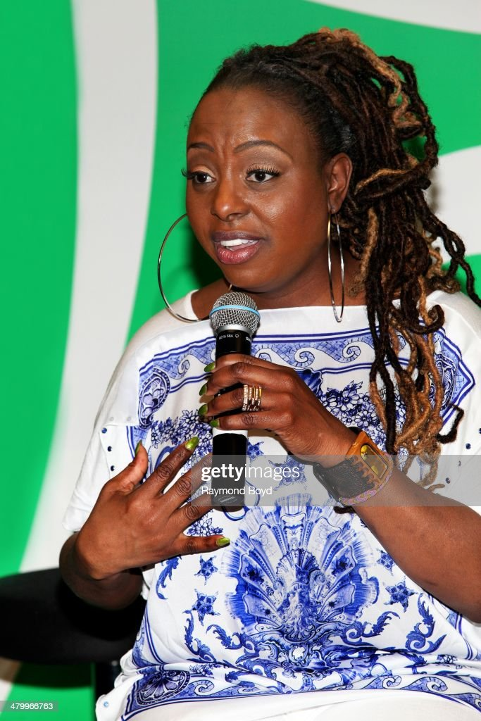 Singer Ledisi is interviewed in the V103FM 'Sprite Lounge' on March 20 2014 in Chicago Illinois