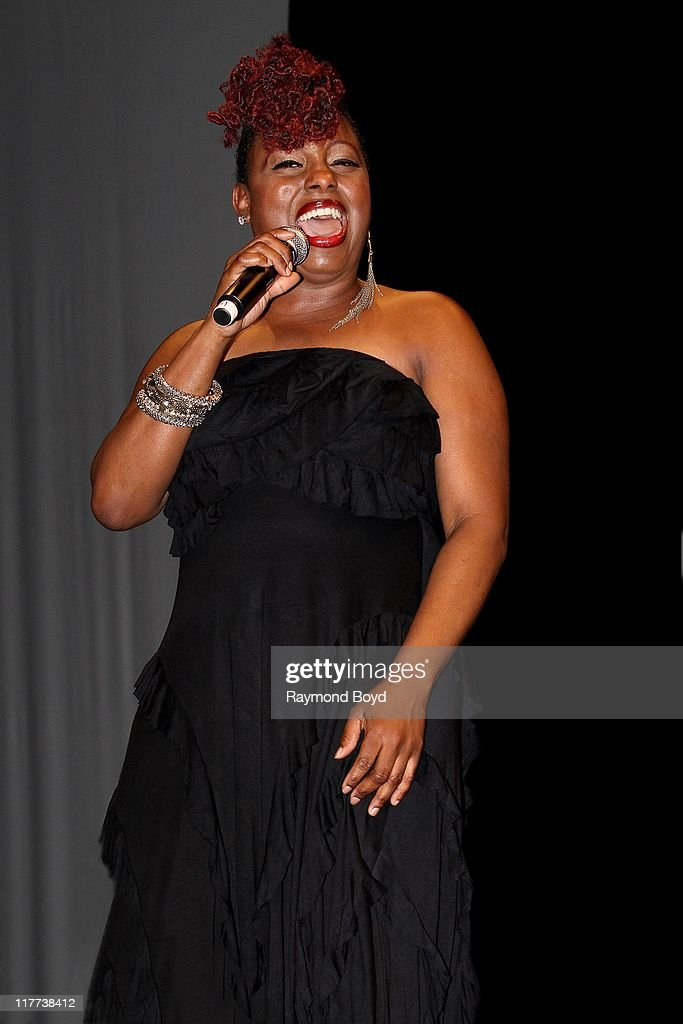 Singer Ledisi performs during 'The Experience With Ledisi' at the Harold Washington Cultural Center in Chicago Illinois on June 17 2011