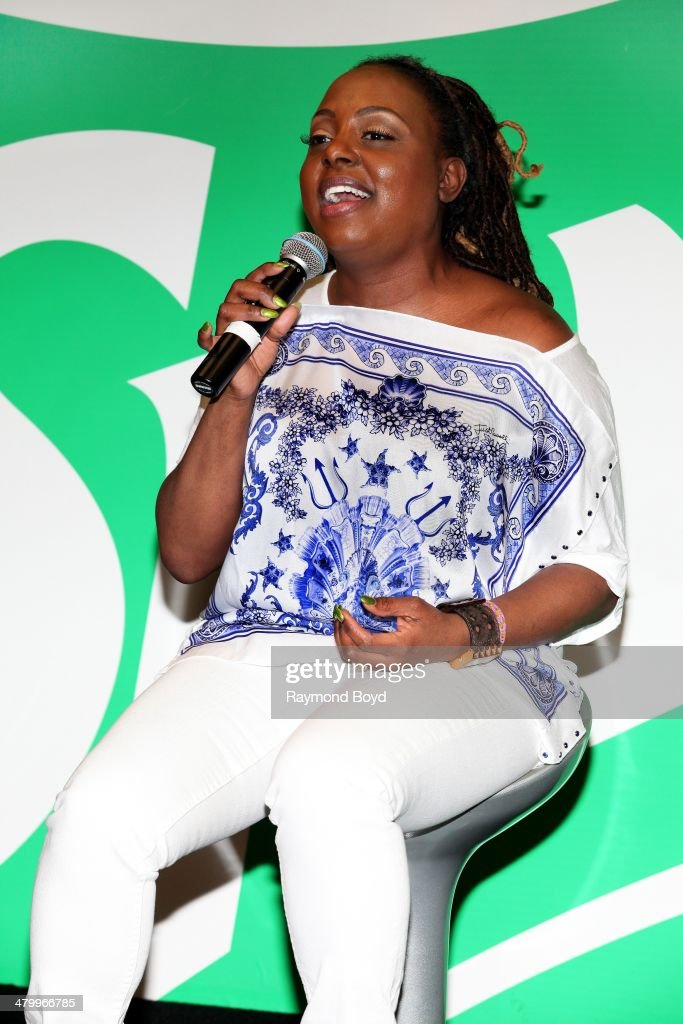 Singer Ledisi performs in the V103FM 'Sprite Lounge' on March 20 2014 in Chicago Illinois