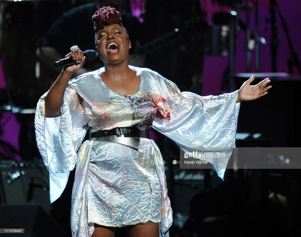 Singer Ledisi performs onstage during the BET Awards '11 held at the Shrine Auditorium on June 26, 2011 in Los Angeles, California.