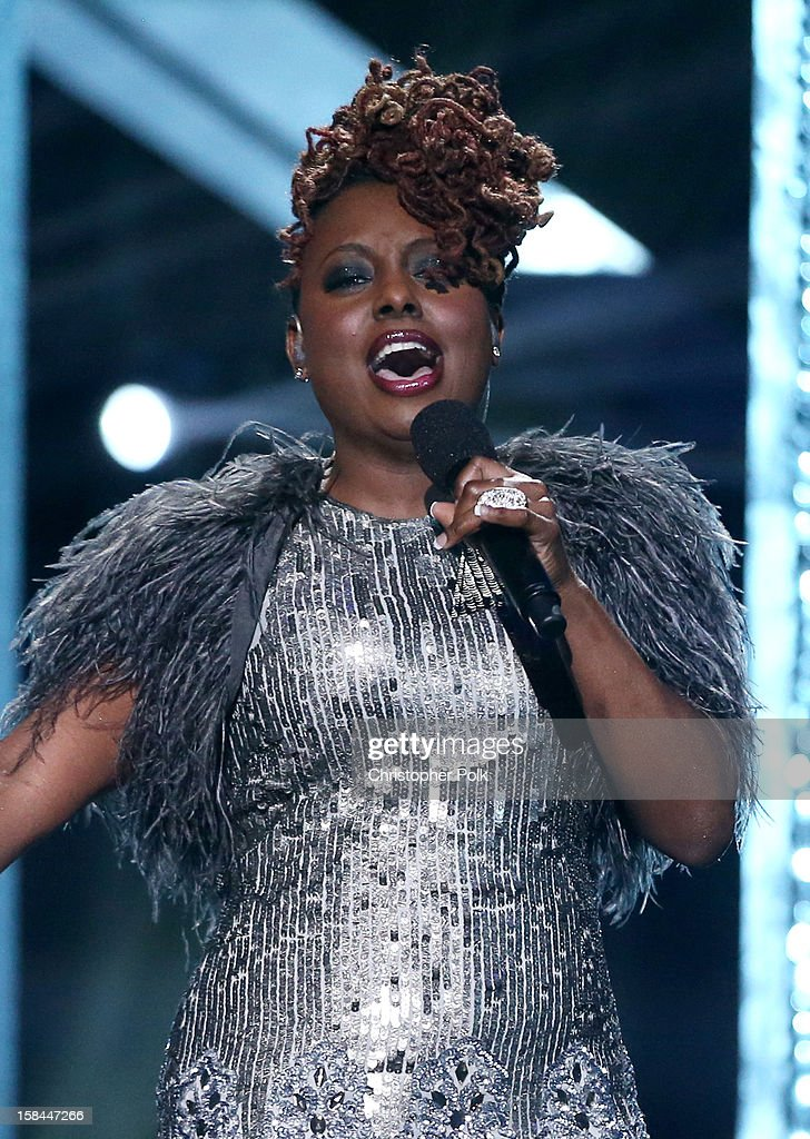 Singer Ledisi performs onstage during 'VH1 Divas' 2012 at The Shrine Auditorium on December 16, 2012 in Los Angeles, California.