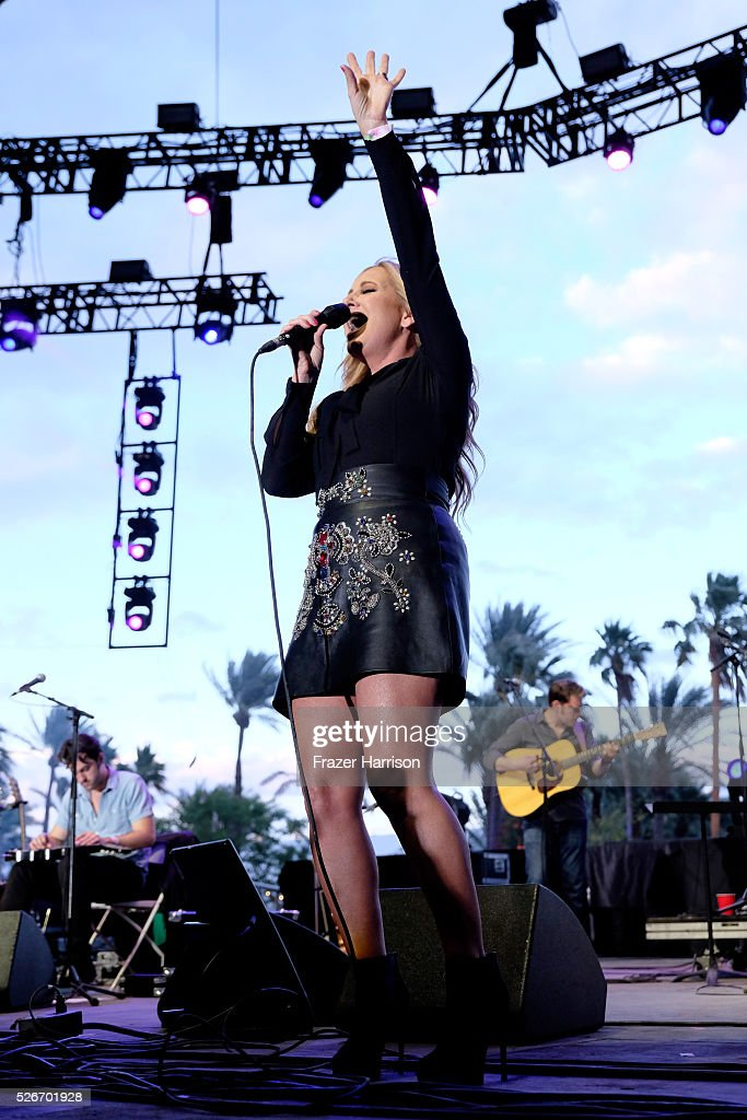 Singer Lee Ann Womack performs onstage during 2016 Stagecoach California's Country Music Festival at Empire Polo Club on April 30, 2016 in Indio, California.