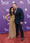 Singer Lee Brice and Sarah Reevely attend the 48th Annual Academy of Country Music Awards at the MGM Grand Garden Arena on April 7 2013 in Las Vegas...