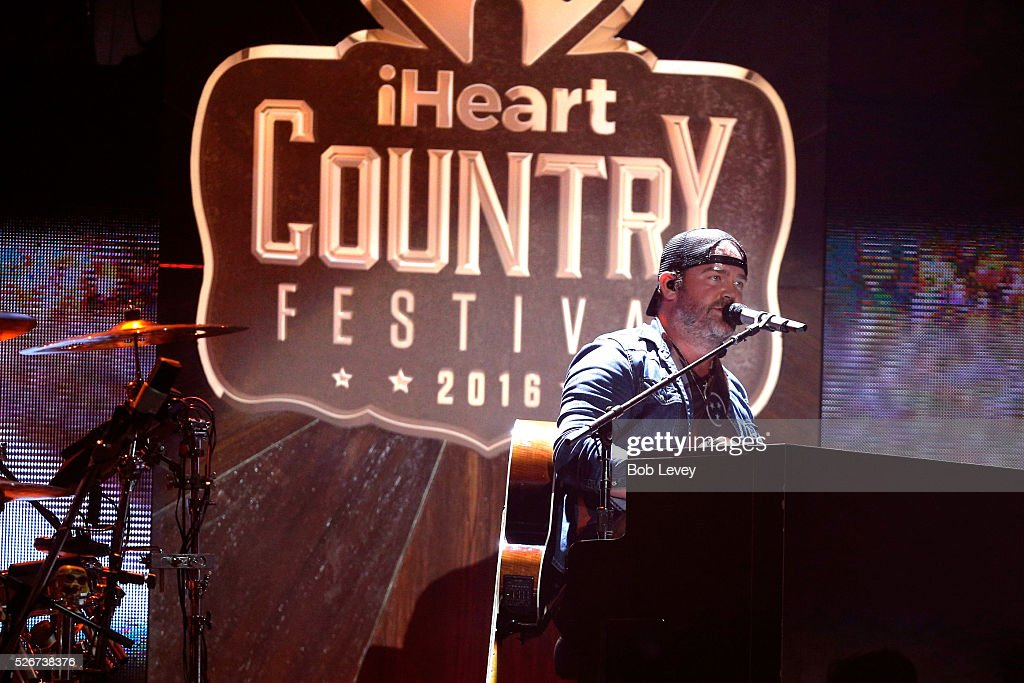 Singer Lee Brice performs onstage during the 2016 iHeartCountry Festival at The Frank Erwin Center on April 30, 2016 in Austin, Texas.