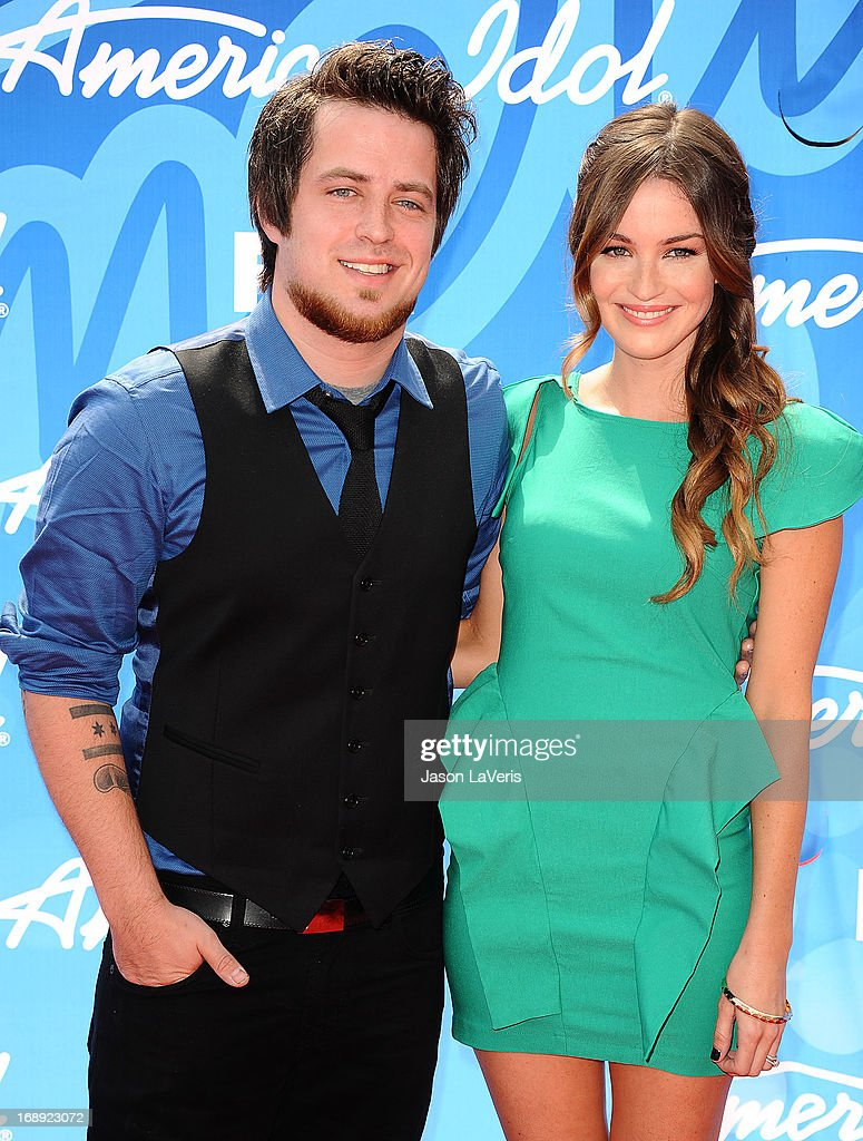 Singer Lee DeWyze and wife Jonna Walsh attend the American Idol 2013 finale at Nokia Theatre L.A. Live on May 16, 2013 in Los Angeles, California.