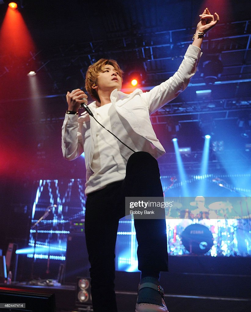 Singer Lee Honggi of the South Korean pop rock band FT Island performs at Best Buy Theater on January 28 2015 in New York City