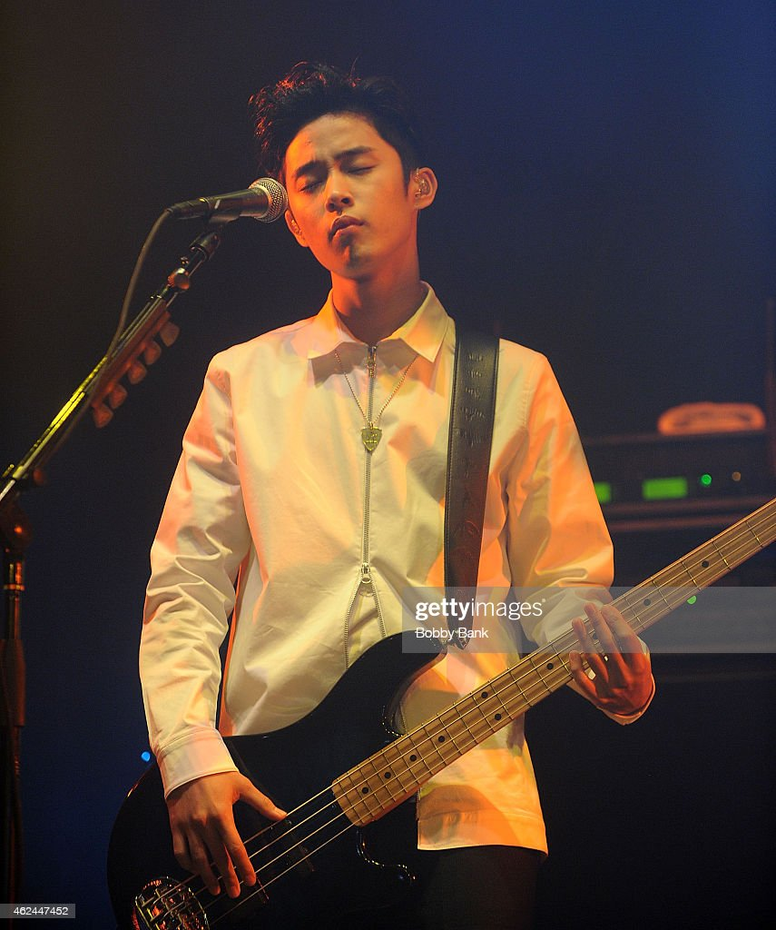 Singer Lee Jaejin of the South Korean pop rock band FT Island performs at Best Buy Theater on January 28 2015 in New York City