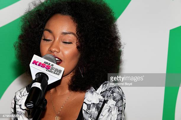 Singer LeighAnne Pinnock of British girl group Little Mix performs in the 1035 KISS FM 'Sprite Lounge' in Chicago Illinois on MARCH 14 2014