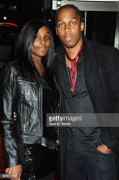 Singer Lemar and his partner Charmaine Powell arrive at the UK film premiere of 'This Is It' at the Odeon Leicester Square on October 27 2009 in...