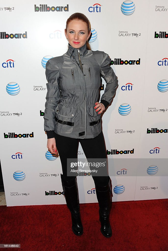 Singer Lena Katina attends the Billboard GRAMMY after party presented by Citi at The London Hotel on February 10, 2013 in West Hollywood, California.