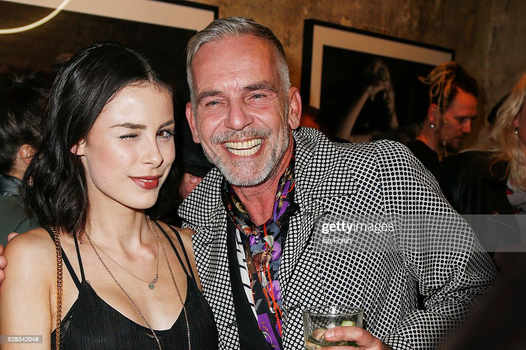 Singer <a gi-track='captionPersonalityLinkClicked' href=/galleries/search?phrase=Lena+Meyer-Landrut+-+German+Singer&family=editorial&specificpeople=6837968 ng-click='$event.stopPropagation()'>Lena Meyer-Landrut</a> and Frank Wilde during the photo art exhibition and book launch of BILLY at Seven Star Gallery on May 4, 2016 in Berlin, Germany.