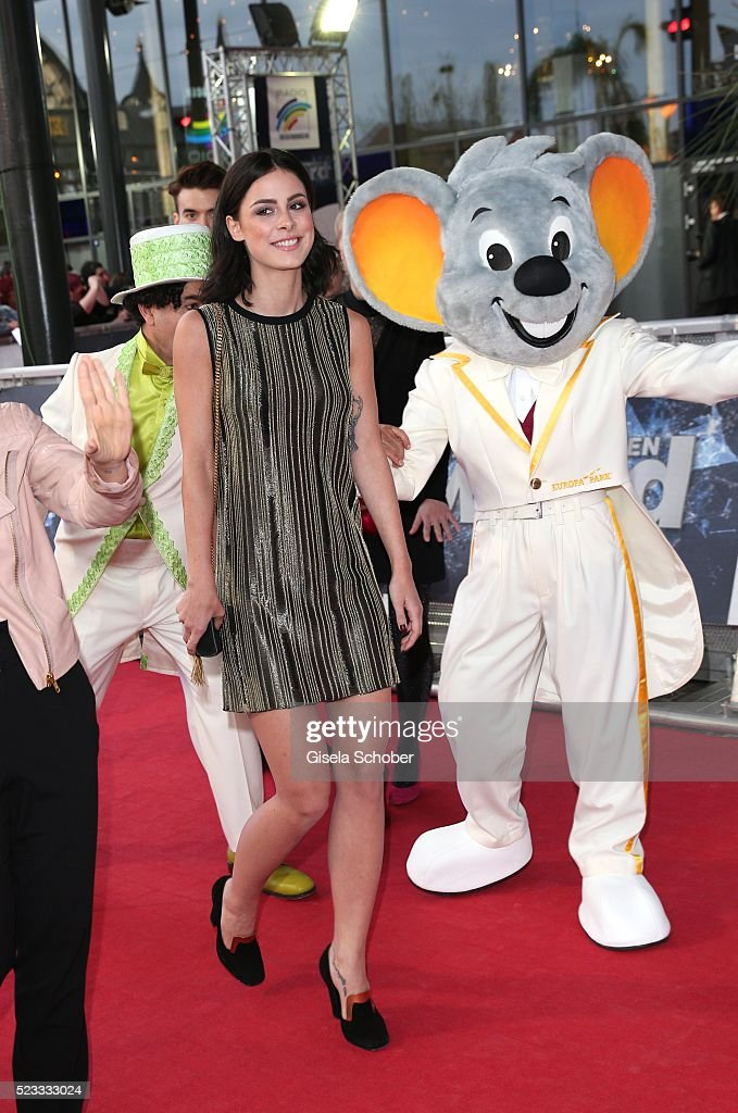 Singer <a gi-track='captionPersonalityLinkClicked' href=/galleries/search?phrase=Lena+Meyer-Landrut+-+German+Singer&family=editorial&specificpeople=6837968 ng-click='$event.stopPropagation()'>Lena Meyer-Landrut</a> during the Radio Regenbogen Award 2016 at Europapark Rust on April 22, 2016 in Rust, Germany.