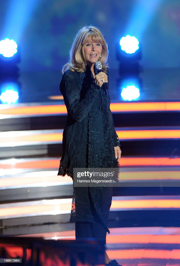 Singer Lena Valaitis attends the 'Heiligabend Mit Carmen Nebel' Show Taping at the Bavaria Studios on November 24, 2012 in Munich, Germany.