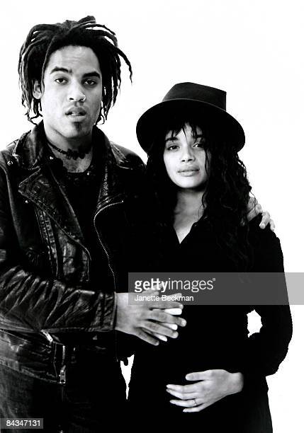 Singer Lenny Kravitz and actress Lisa Bonet pose for a portrait 1986 New York