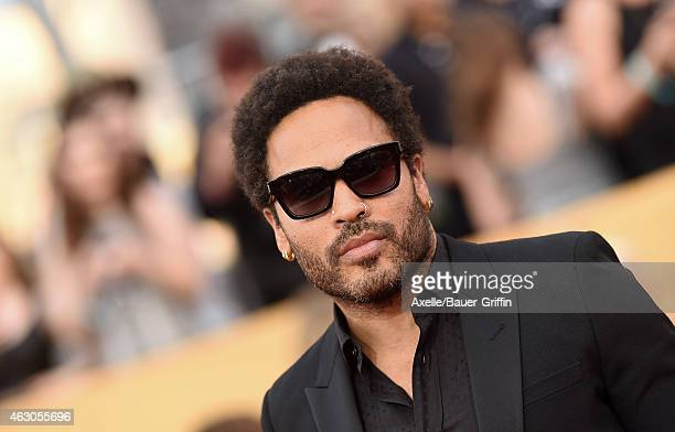 Singer Lenny Kravitz arrives at the 21st Annual Screen Actors Guild Awards at The Shrine Auditorium on January 25 2015 in Los Angeles California