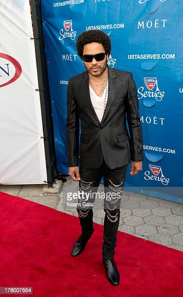 Singer Lenny Kravitz attends the 13th Annual USTA Serves Opening Night Gala at USTA Billie Jean King National Tennis Center on August 26 2013 in New...