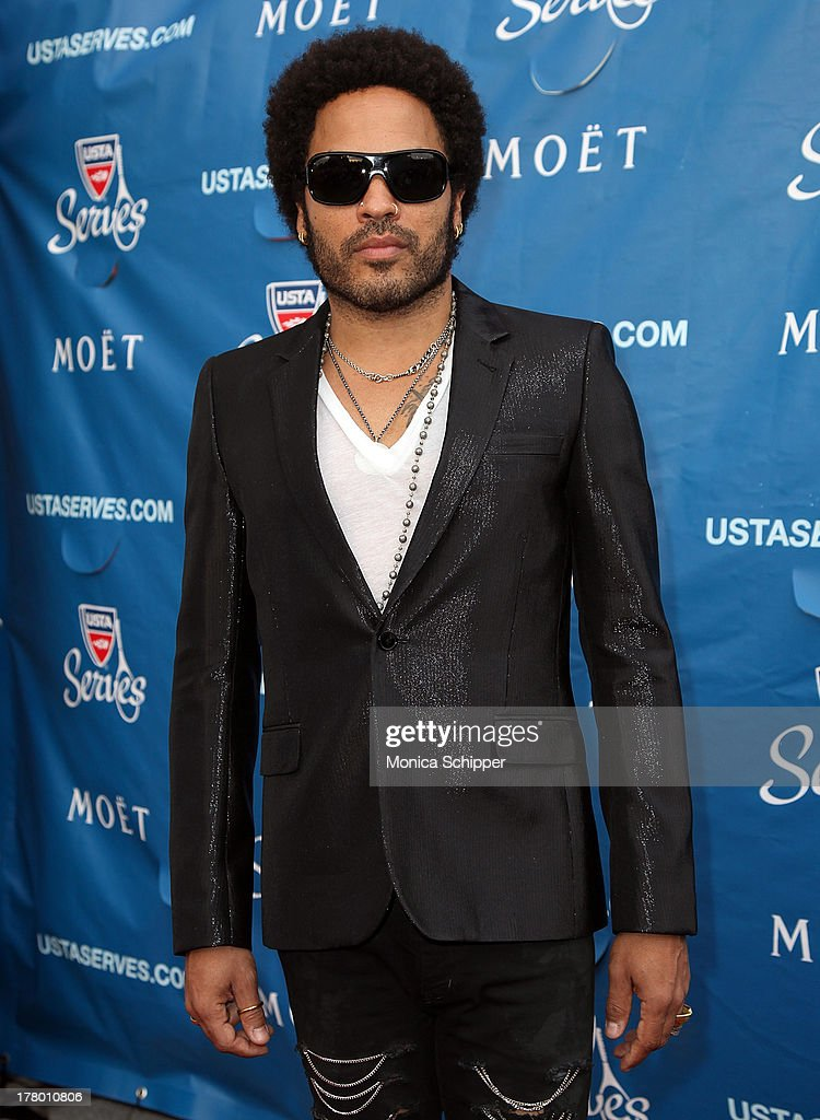 Singer <a gi-track='captionPersonalityLinkClicked' href=/galleries/search?phrase=Lenny+Kravitz&family=editorial&specificpeople=171613 ng-click='$event.stopPropagation()'>Lenny Kravitz</a> attends the 13th Annual USTA Serves Opening Night Gala at USTA Billie Jean King National Tennis Center on August 26, 2013 in New York City.