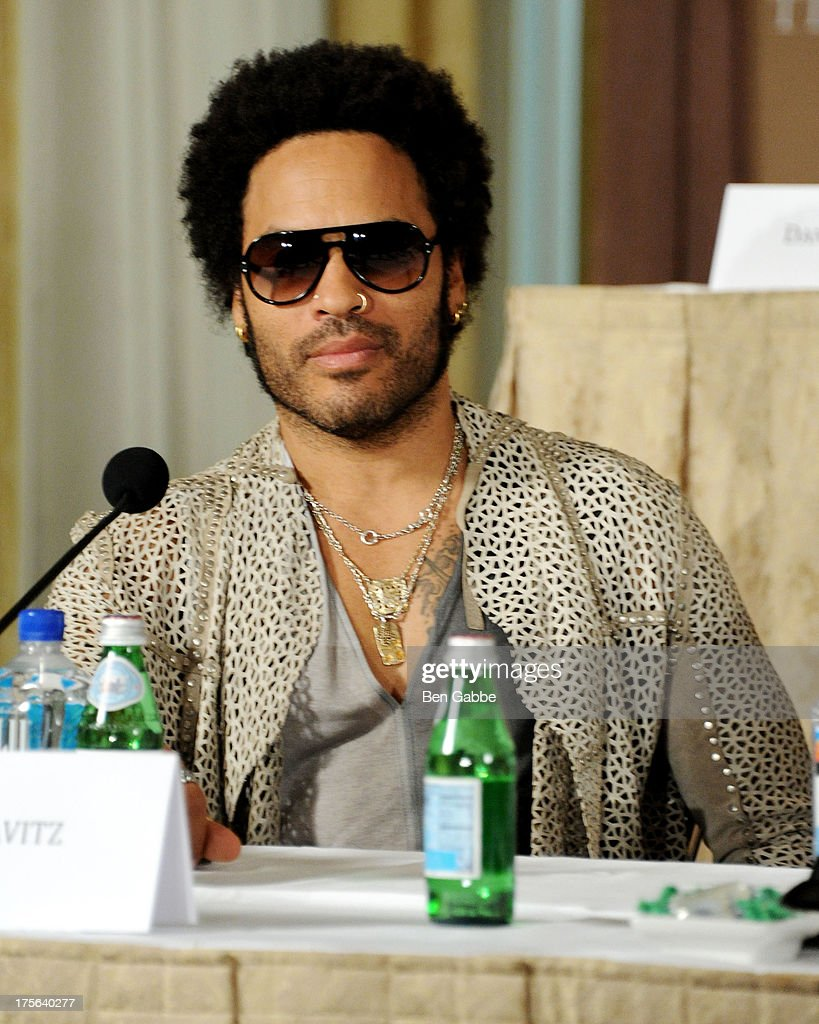 Singer Lenny Kravitz attends the press conference for The Weinstein Company's LEE DANIELS' THE BUTLER at Waldorf Astoria Hotel on August 5, 2013 in New York City.