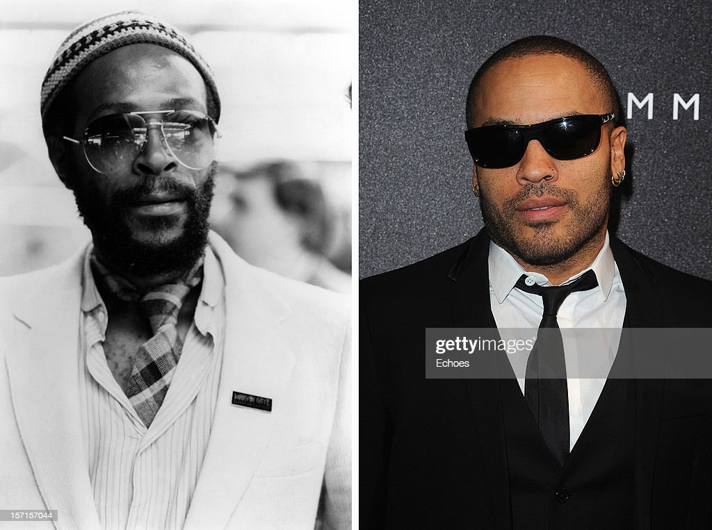 In this composite image a comparison has been made between Marvin Gaye (L) and Lenny Kravitz. Singer Lenny Kravitz will reportedly play singer Marvin Gaye in a film biopic directed by Julien Temple. PARIS - NOVEMBER 17: Singer Lenny Kravitz attends the Tommy Hilfiger Champs Elysee flagship opening on November 17, 2010 in Paris, France.