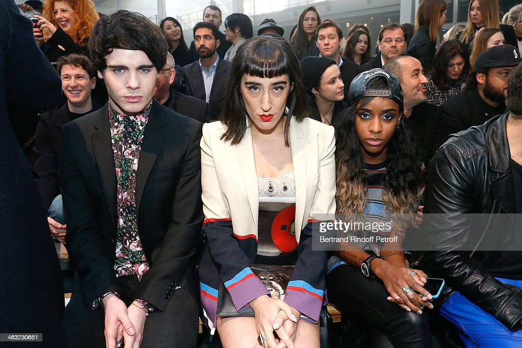 Singer Leon Els, Lady fag and singer <a gi-track='captionPersonalityLinkClicked' href=/galleries/search?phrase=Angel+Haze&family=editorial&specificpeople=9771696 ng-click='$event.stopPropagation()'>Angel Haze</a> attends the Givenchy Menswear Fall/Winter 2014-2015 Show as part of Paris Fashion Week. Held at Halle Freyssinet on January 17, 2014 in Paris, France.