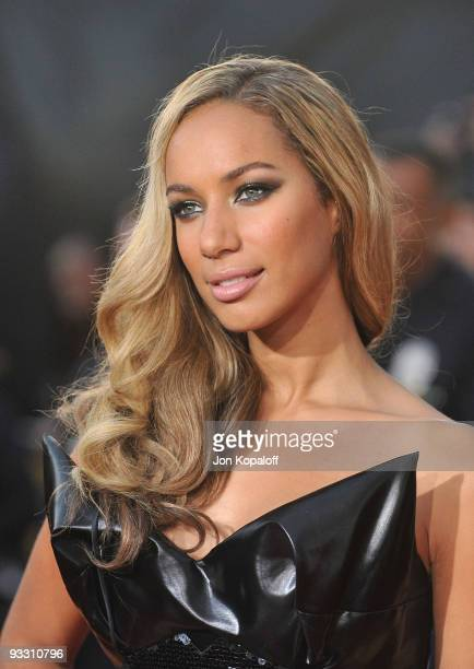 Singer Leona Lewis arrives at Nokia Theatre LA Live on November 22 2009 in Los Angeles California