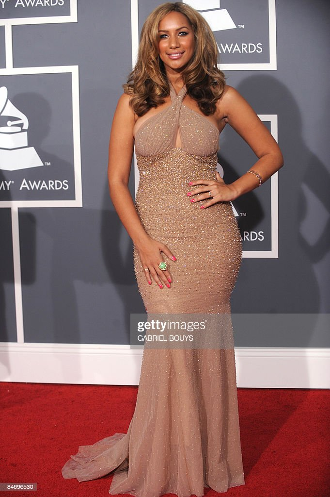 Singer Leona Lewis arrives at the 51st Annual Grammy Awards, at the Staples Center in Los Angeles, on February 8, 2009. Lewis is nominated for Best Female Pop Vocal Performance. AFP PHOTO/GABRIEL BOUYS