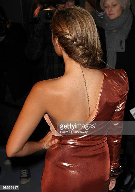 Singer Leona Lewis arrives at the Love Ball in aid of The Naked Heart Foundation at The Roundhouse on February 23 2010 in London England The charity...