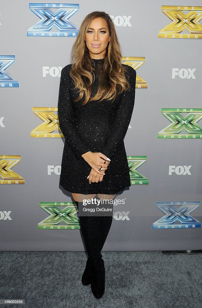 Singer <a gi-track='captionPersonalityLinkClicked' href=/galleries/search?phrase=Leona+Lewis&family=editorial&specificpeople=4043973 ng-click='$event.stopPropagation()'>Leona Lewis</a> attends FOX's 'The X Factor' season finale at CBS Television City on December 19, 2013 in Los Angeles, California.