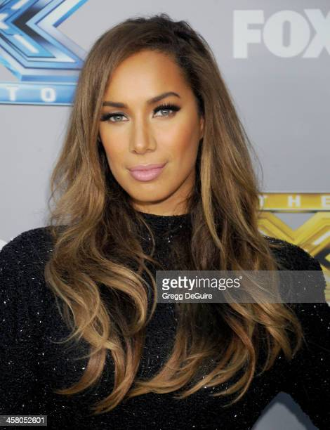 Singer Leona Lewis attends FOX's 'The X Factor' season finale at CBS Television City on December 19 2013 in Los Angeles California