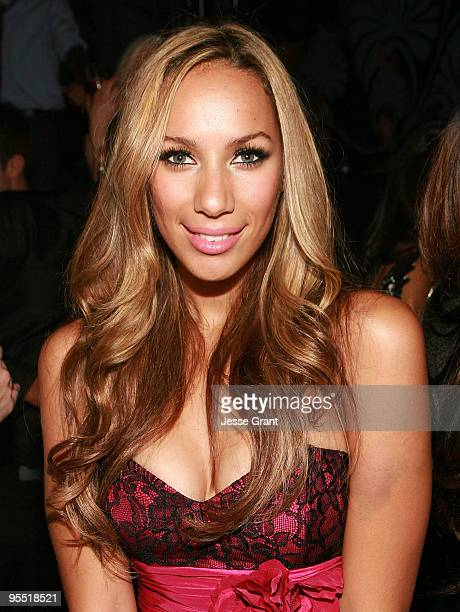 Singer Leona Lewis attends NYE hosted by Robin Thicke at The Bank Nightclub Bellagio Hotel and Casino Resort on December 31 2009 in Las Vegas Nevada