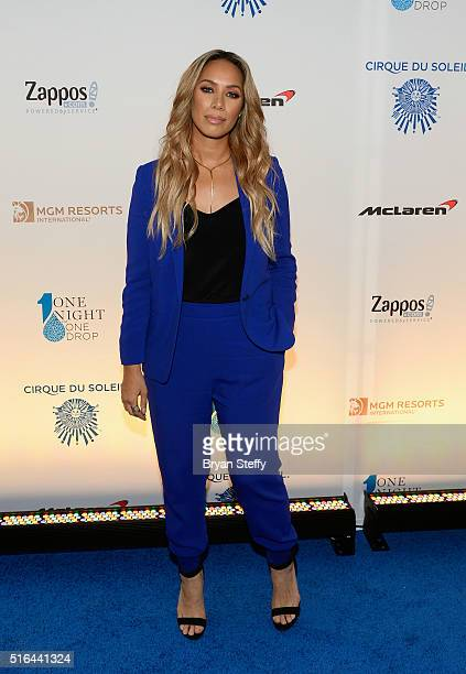 Singer Leona Lewis attends the fourth annual 'One Night for ONE DROP' imagined by Cirque du Soleil a show that raises awareness and funds for...