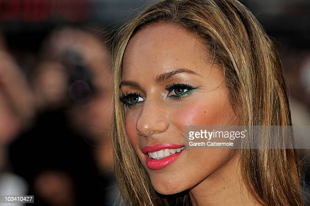 Singer Leona Lewis attends the UK film premiere of Salt at the Empire Leicester Square on August 16 2010 in London England