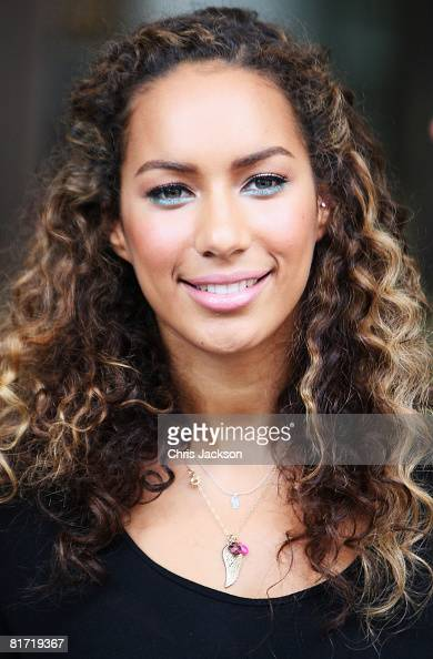 Singer Leona Lewis leaves the InterContinental Hotel after a photoshoot with celebrity photographer Terry O'Neil on June 26 2008 in London England...