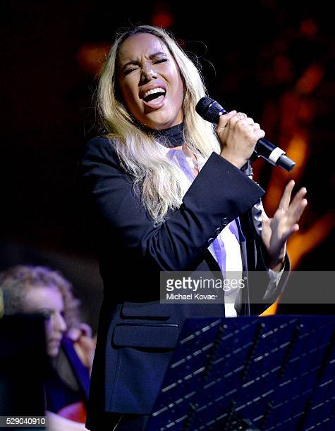 Singer Leona Lewis performs onstage during The Humane Society of the United States' to the Rescue Gala at Paramount Studios on May 7 2016 in...