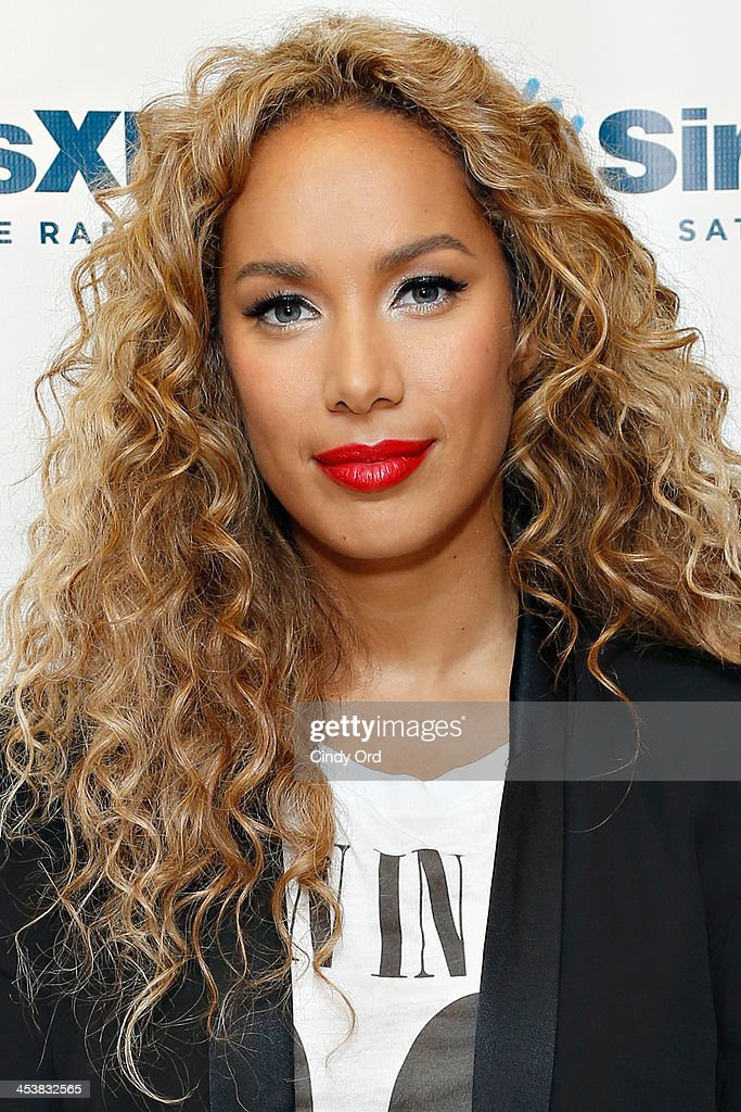 Singer <a gi-track='captionPersonalityLinkClicked' href=/galleries/search?phrase=Leona+Lewis&family=editorial&specificpeople=4043973 ng-click='$event.stopPropagation()'>Leona Lewis</a> visits the SiriusXM Studios on December 5, 2013 in New York City.