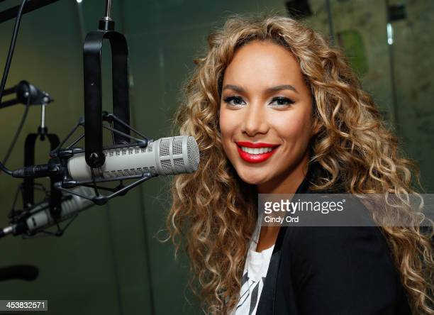 Singer Leona Lewis visits the SiriusXM Studios on December 5 2013 in New York City