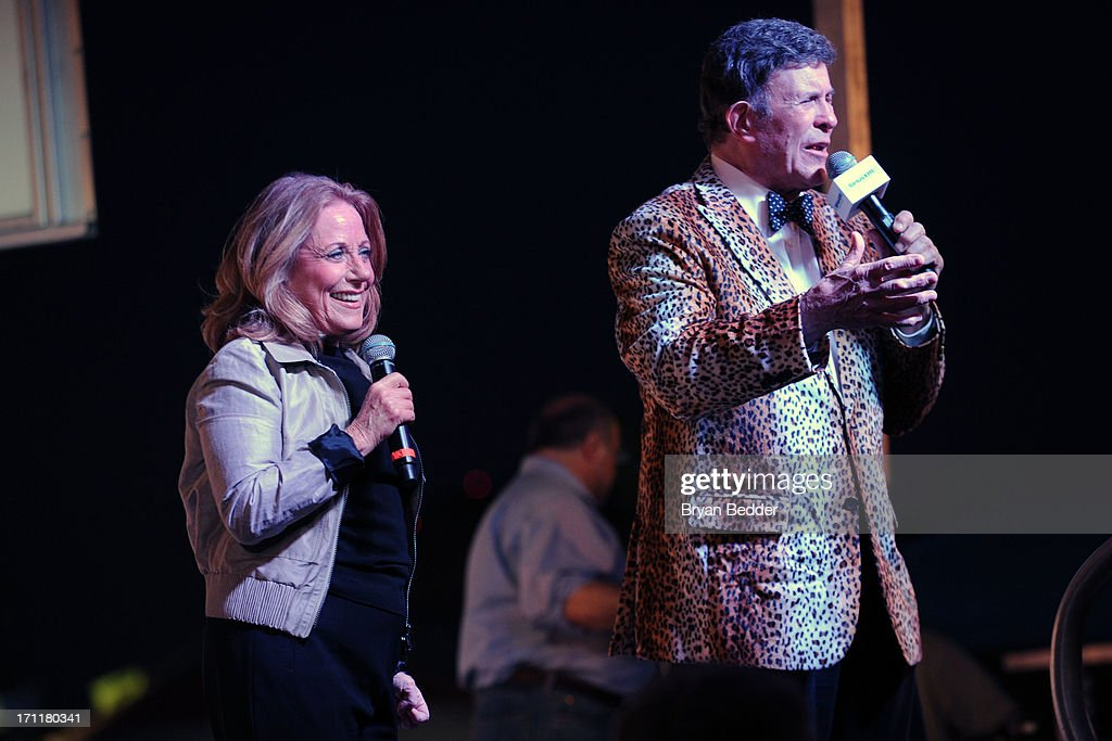 Singer <a gi-track='captionPersonalityLinkClicked' href=/galleries/search?phrase=Lesley+Gore&family=editorial&specificpeople=1131026 ng-click='$event.stopPropagation()'>Lesley Gore</a> and Bruce Morrow speak onstage at the Cousin Brucie's First Annual Palisades Park Reunion presented by SiriusXM on June 22, 2013 in East Rutherford, New Jersey.
