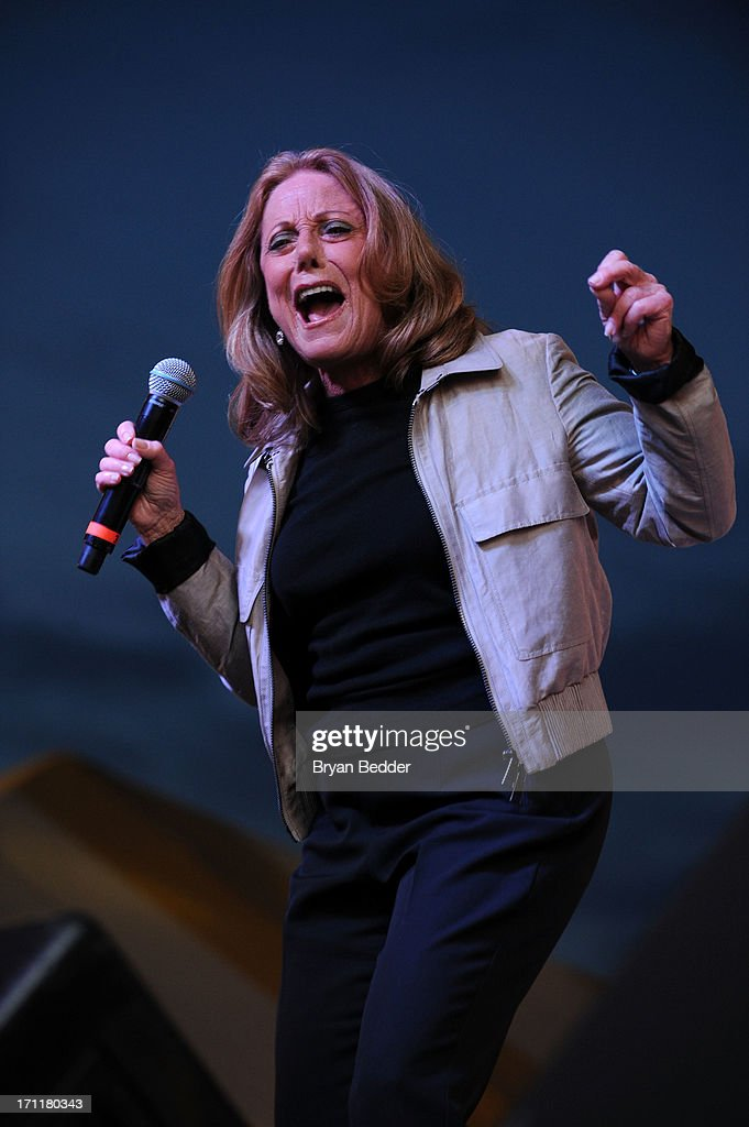 Singer Lesley Gore performs the Cousin Brucie's First Annual Palisades Park Reunion presented by SiriusXM on June 22, 2013 in East Rutherford, New Jersey.