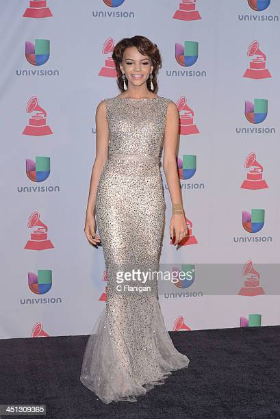 Singer Leslie Grace arrives at the 14th Annual Latin GRAMMY Awards at Mandalay Bay Events Center on November 21 2013 in Las Vegas Nevada