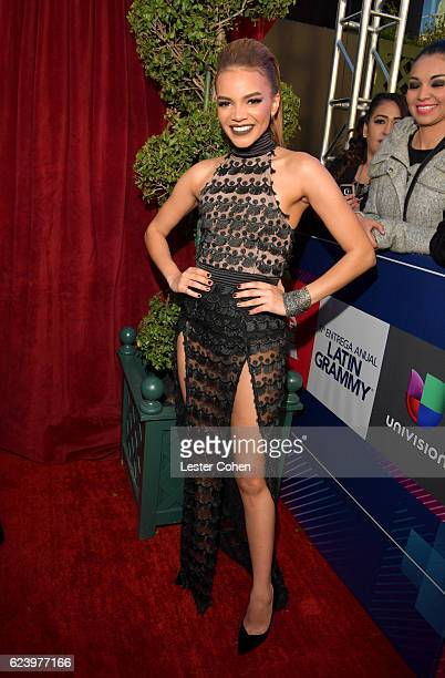 Singer Leslie Grace attends The 17th Annual Latin Grammy Awards at TMobile Arena on November 17 2016 in Las Vegas Nevada