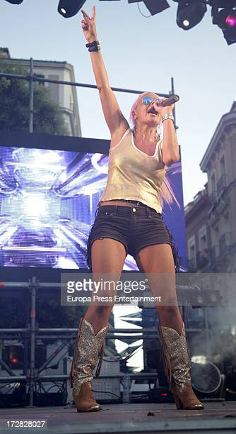 Singer Leticia Sabater performs at MADO 2013 gay parade concert on July 4 2013 in Madrid Spain