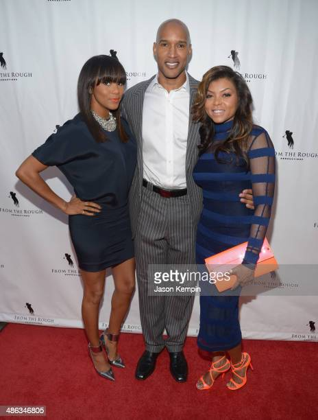 Singer LeToya Luckett actor Henry Simmons and actress Taraji P Henson attend the screening of 'From The Rough' at ArcLight Cinemas on April 23 2014...