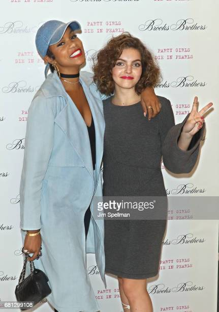 Singer LeToya Luckett and actress Camren Bicondova attend Plum Skye's 'Party Girls Die In Pearls' book launch celebration at Brooks Brothers on May 9...